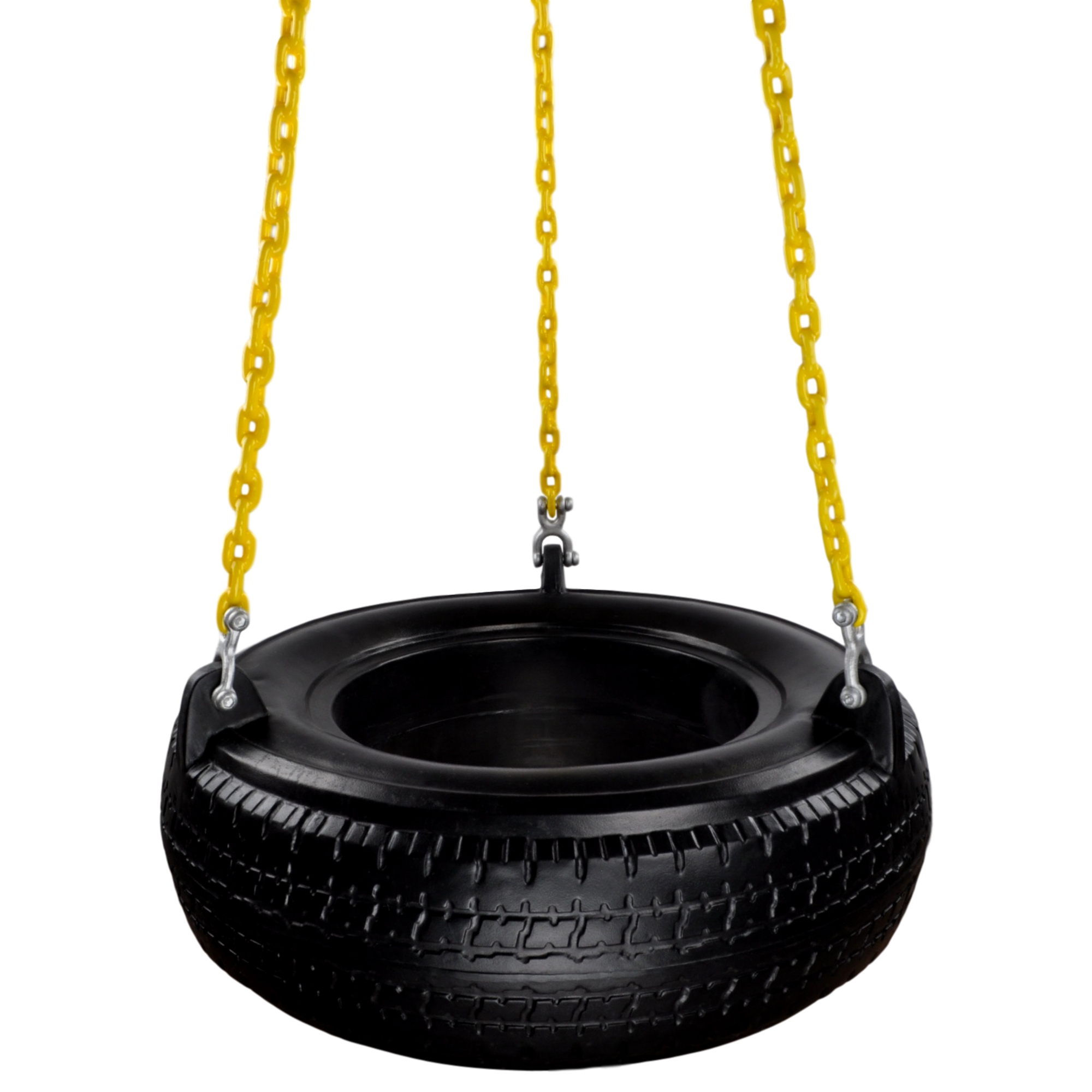 Swing Set Stuff Inc Plastic Tire Swing With Coated Chain Black